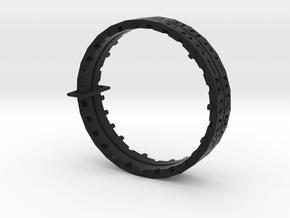 Rashi Decoder Bracelet in Black Natural Versatile Plastic: Large