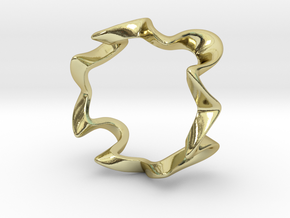 Algaroth ring in 18k Gold Plated Brass: 6 / 51.5