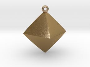 Minimal Rhombus Pendant  in Polished Gold Steel