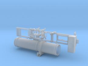 1/87th Asphalt Drum Mixer Batch Dryer Trailer in Smooth Fine Detail Plastic
