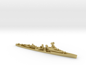 HMS Coventry 1:3000 WW2 naval cruiser in Natural Brass