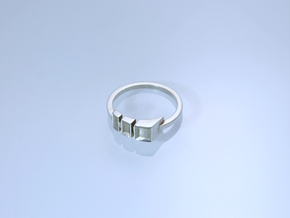 Guide Lines  in Polished Silver: 8.5 / 58