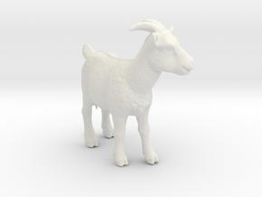 O Scale (1:48) Alpine Nanny Goat in White Natural Versatile Plastic
