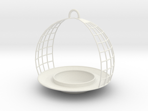 Birdfeeder in White Natural Versatile Plastic