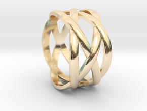 braided fashion ring in 14K Yellow Gold: 5 / 49