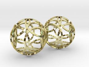 flower earrings in 18k Gold Plated Brass