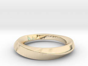 mobius 16.1mm in 14k Gold Plated Brass