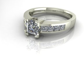Classic Solitaire 24 NO STONES SUPPLIED in Fine Detail Polished Silver