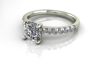 Classic Solitaire 24 NO STONES SUPPLIED in 14k White Gold