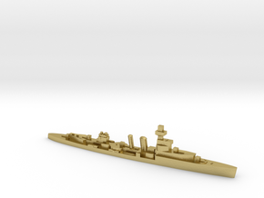 HMS Cardiff 1939 1:1800 WW2 cruiser in Natural Brass