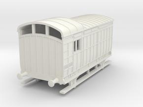 o-87-nlr-kesr-luggage-brake-coach in White Natural Versatile Plastic