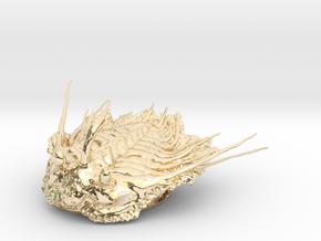 Trilobite - Kettneraspis prescheri in 14k Gold Plated Brass