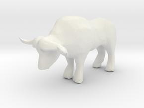 O Scale Ox in White Natural Versatile Plastic