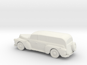 O Scale Woody Wagon in White Natural Versatile Plastic