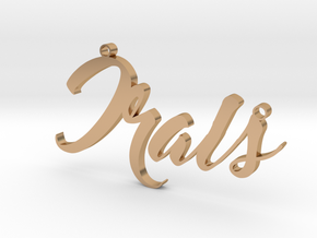 Custom Necklace Irais in Polished Bronze