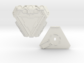 Tony Stark's MK 50 Nano Arc Reactor in White Natural Versatile Plastic