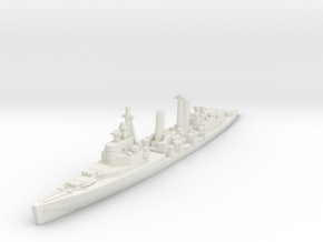 HMS Belfast 1/2400 in White Natural Versatile Plastic