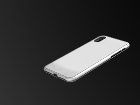 iphone X Case in White Natural Versatile Plastic