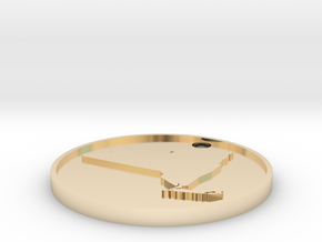 Customizable Coin Tag: New York Edition in 14k Gold Plated Brass