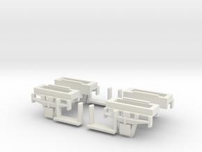 CCT Van Bogie Set  in White Natural Versatile Plastic