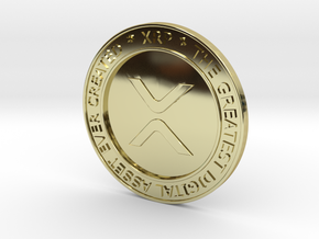XRP Lapel Pin in Solid Gold 18K in 18K Yellow Gold