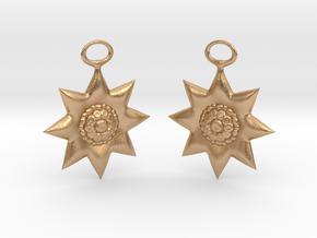 Flowers Earrings in Natural Bronze