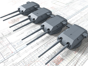 "1/192 H Class 40.6 cm/52 (16"") SK C/34 Guns in Smooth Fine Detail Plastic"