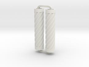 Slimline Pro spiral 02 lathe in White Natural Versatile Plastic