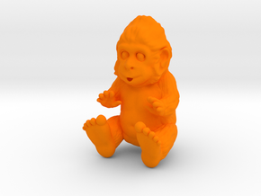 Baby Sasquatch in Orange Processed Versatile Plastic
