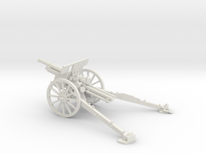 1/48 IJA Type 91 105mm Howitzer in White Natural Versatile Plastic