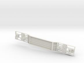 Depressed Deck Flat Car  GSC  in White Natural Versatile Plastic