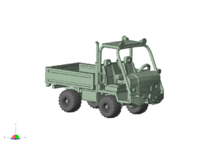 1/87 Scale Grillo-ish Utility Truck in Smooth Fine Detail Plastic