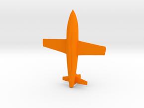 Rocket Plane 1/70 in Orange Processed Versatile Plastic