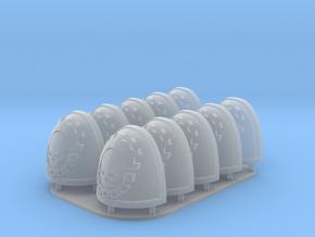 Legio Cybernetica Shoulderpads 10x 40k in Smooth Fine Detail Plastic