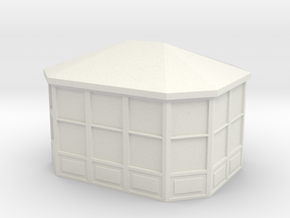 Gazebo 1/72 in White Natural Versatile Plastic