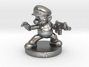 Mario Bros survivor 1/60 miniature for games rpg in Natural Silver
