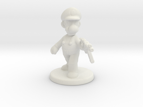 Luigi survivor 1/60 miniature for games and rpg in White Natural Versatile Plastic