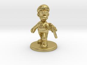 Luigi survivor 1/60 miniature for games and rpg in Natural Brass