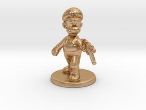 Luigi survivor 1/60 miniature for games and rpg in Natural Bronze