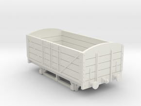 L&BR Open Wagon w/ Buffers OO Scale in White Natural Versatile Plastic