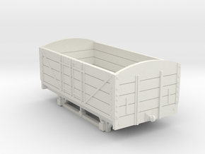 L&BR Open Wagon w/o Buffers OO Scale in White Natural Versatile Plastic