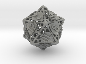 Botanical d20 Ornament in Gray PA12