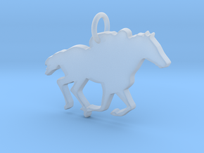 Horse Pendant in Smooth Fine Detail Plastic