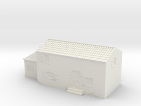 Italian style house 1/56 in White Natural Versatile Plastic