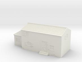 Italian style house 1/56 in White Natural Versatile Plastic