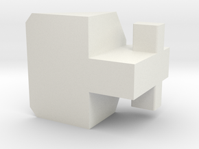 DX9 (MFT) Hulkie heel piece for improved stability in White Natural Versatile Plastic