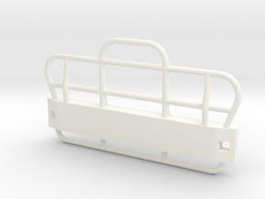 B61BullBar in White Processed Versatile Plastic