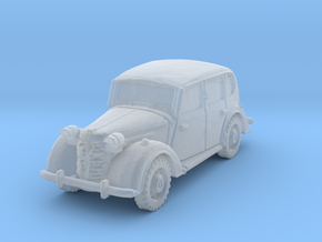 austin 10 staffcar scale 1/285 in Smooth Fine Detail Plastic