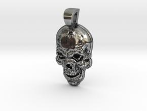 Skull pendant Oslo in Antique Silver
