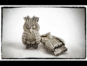 Owl Pendant in Antique Silver
